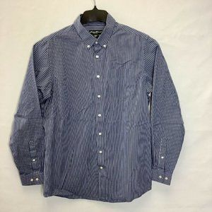 NEW Eddie Bauer Size XL Relaxed Fit Stripes Shirt